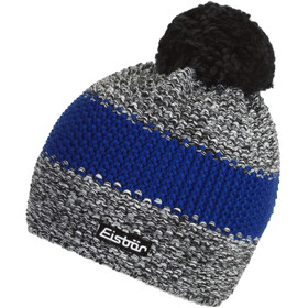 Eisbär Styler Cappello con pon pon Uomo, black/withe mottled/flash blue